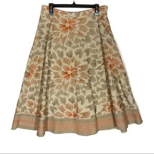 Coldwater Creek Embroidered Floral Skirt Medium